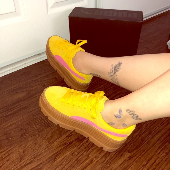 sports shoes fc93d 62be2 Fenty by Puma Yellow Creepers NWT